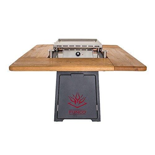 Funco Exklusive Design Relax-Elektro Gartentisch Grundausstattung Elektrogrill, Antrazit, 130 x 130 x 77 cm