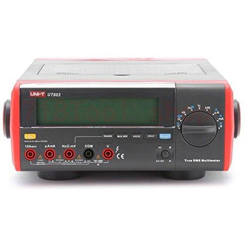 Uni-T ut803True RMS Auto Range Bench Typ Digital Multimeter DMM HZ Temperatur Tester Kondensator w/hFE-Test & USB Bench Digital Multimeter