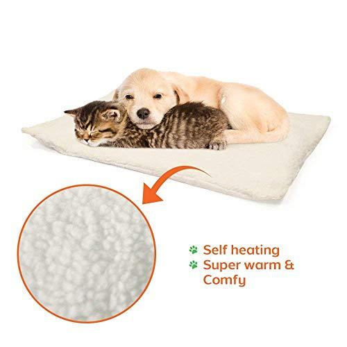 OneBarleycorn - Pets Wärmereflektierendes Thermofleece-Kissen, Katzen Hundebett