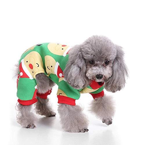 (Halloween-Kostüm für Hunde und Katzen, Strickware, Hundepullover, Hundegeschirr, warme Jacke mit Mantel und Tops, Brustschutz, T-Shirt, Anzug für Weihnachten)