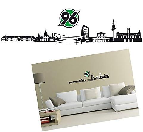 Wandtattoo Skyline Hannover 96, Wand Tattoo, Aufkleber (Skyline Pin)