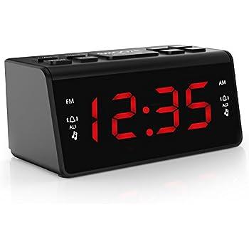 digital fm am radiowecker uhr mit nachtlicht funktion elektronik. Black Bedroom Furniture Sets. Home Design Ideas