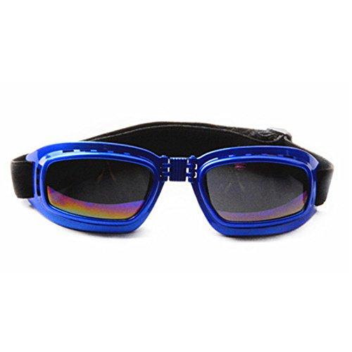 Aprigy - Arbeiten Sie Haustier-Sonnenbrille Hundesonnenbrillen windundurchl?ssiges Sunscreen Pet Sonnenbrille f¨¹r Small Medium Large Hundetierzubeh?r [Blau ]