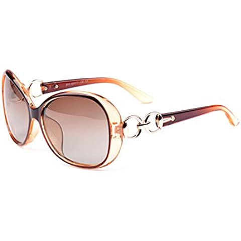VeBrellen Lujo transparente gafas de sol polarizadas Gafas retro Mujer de los anteojos UV400