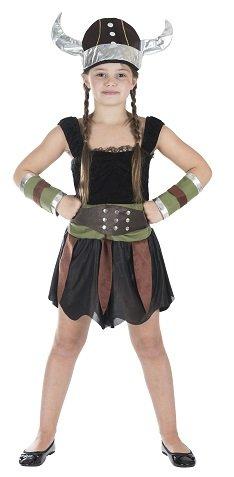 (Viking Girl Wikinger Mädchen Größe M Kinder Kostüm Karneval 50120)