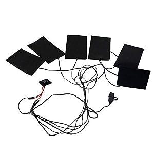 LIOOBO USB Kleidung Heizkissen Elektrische Tuch Heizung Pad für Tuch Bettlaken Weste (Schwarz)