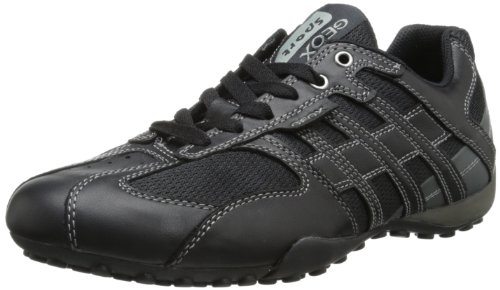 Geox Herren UOMO SNAKE K Sneakers, Schwarz (BLACK/LEADC9204), 43 EU