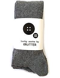 Krutter acanalado calcetines hasta la rodilla 3 - Gris