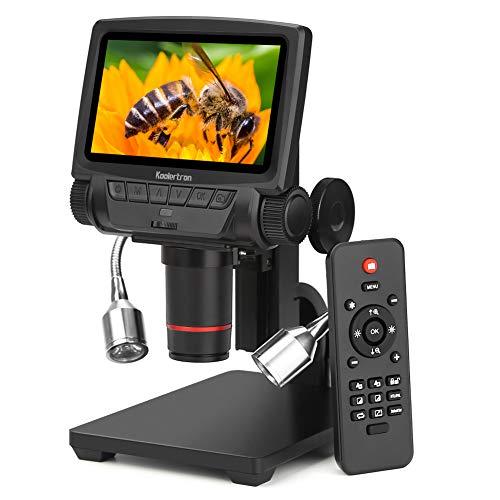 Koolertron 5 Zoll LCD 1080P Mit Kabelloser Fernbedienung Verstellbarer Basis FülllichtDigitalMikroskop Kamera Video Recorder Microscope , mit 8 Einstellbares Licht LEDs HDMI / AV / USB Ausgang