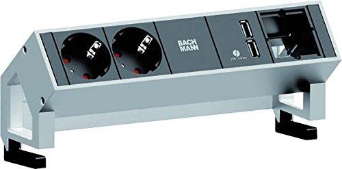 Preisvergleich Produktbild Bachmann Steckdosenleiste Schutzkontakt Desk, 902228