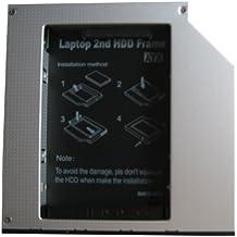 Generic 2nd SSD HDD Caddy–Adaptador de disco duro para Acer Aspire 59205920G, bahía de unidad óptica