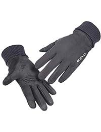 95835c6e11adbb Sporzin Handschuhe Herren Damen Künstliches Wildleder Touchscreen Handschuhe  - Super Warme…