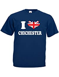 I Love Heart Chichester Mens T Shirt