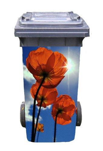 *Mülltonnen-Aufkleber Motiv Himmelsblüte 37 cm x 82 cm für 240 l Tonne*