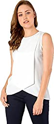 Latest top for women 2018 stylish tops for women under 500 tops for women new fashion 2018 tops below 300 for women a top for women g tops for women western top under 150 rs for women (CRAZY_FASHION_SURAT Womens Crepe Stitched Top (White) Size: Medium