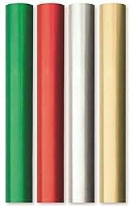 8M papier d'emballage uni métallique film effet papier 4x2m rouleau argent, rouge, or