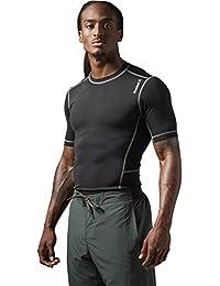 Reebok Wor Compr Sho Sleeve Maillot de compression à manches courtes pour homme Noir Noir
