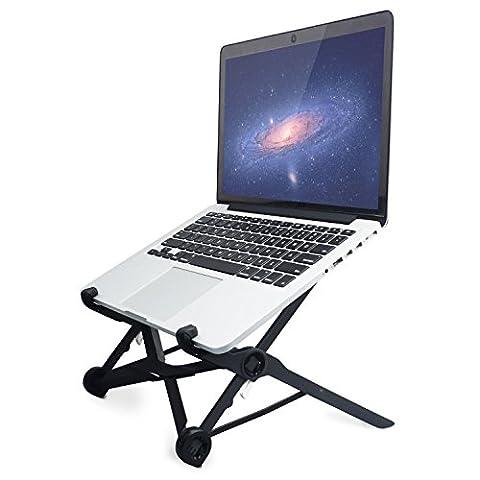 Portable support pour ordinateur portable pliable, réglable support d'ordinateur portable des yeux ergonomique Compact et léger ajustement universel pour PC Ordinateur MacBook Noir