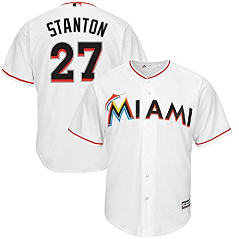 Men's Giancarlo Stanton #27 Jerseys White