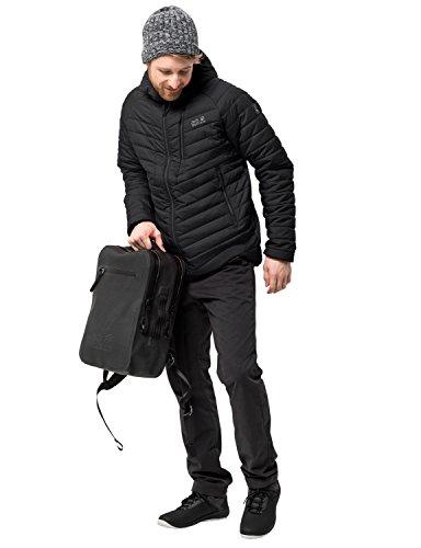 Jack Wolfskin Herren AERO Trail Men Isolationsjacke Winddicht Wasserabweisend Wetterschutzjacke, schwarz, L -