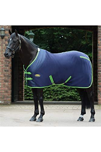 Weatherbeeta Fleece Cooler Standard Neck Navy/Lime Rug Size - 6ft 9in