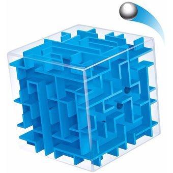 Labyrinth Würfel XL in Blau Verflixte Spardose 3D Kugel Perfektes Geschenk zum Geburtstag für Erwachsene & Kinder Metall-rätsel-würfel
