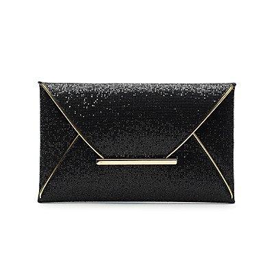 SUNNY KEY-Pochette e Clutch@Donna PU (Poliuretano) Casual Pochette , gold black