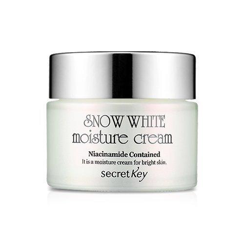 Secret Key - Snow White Moisture Cream - Crème hydratante avec effet aufhellung Poudre pour le visage avec perle et Niacinamide contre les taches sombres, taches de âge et de la peau pour les hommes et les femmes - Whitening Cream for Dark Skin - BB & CC crèmes - Soin de jour - Body crèmes - Masques & Visage Cures