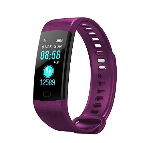 "Yanchad Smartwatch Y5 Smart Armband 0,96\""TFT-Display Herzfrequenz-Messgerät Armband Blutdruck Blutsauerstoff-Test Wasserdichtes Fitness-Band lila Mode tragbar"