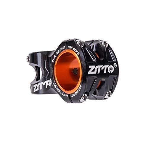 JohnJohnsen Aushöhlen 0 Grad steigen DH Uhr Enduro Fahrrad 50mm MTB Aluminiumlegierung CNC Vorbau Für 35mm / 31.8mm Lenkervorbau (schwarz)