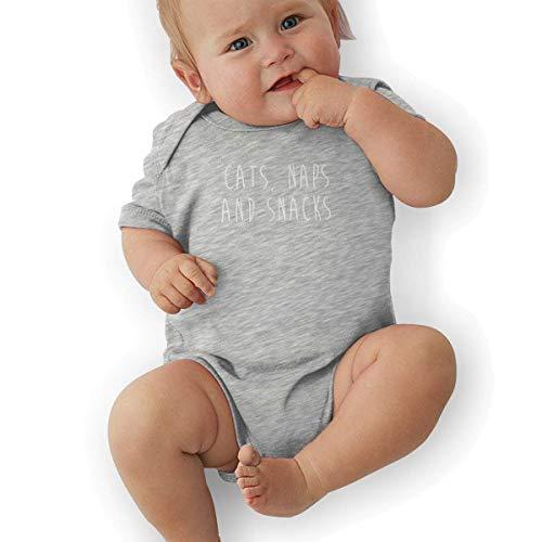 Bodys & Einteiler,Babybekleidung, Baby one-Piece Suit,Baby Jumper,Pajamas, Baby Boy Bodysuit, Cats, Naps and Snacks Baby Boys' Cotton Bodysuit Baby Clothes
