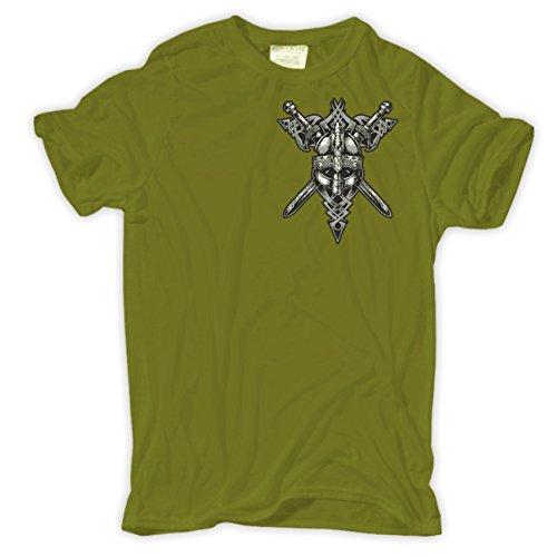 Männer und Herren T-Shirt Wir sind die letzten Goten (mit Rückendruck) Moosgrün
