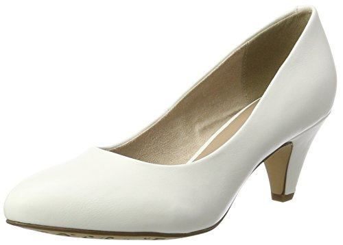 Tamaris Damen 22416 Pumps, Weiß (White Matt), 39 EU