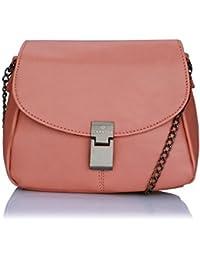 Caprese Women's Sling Bag (Dull Pink)