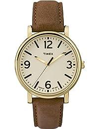 Timex Herren-Armbanduhr Analog Quarz Leder T2P527