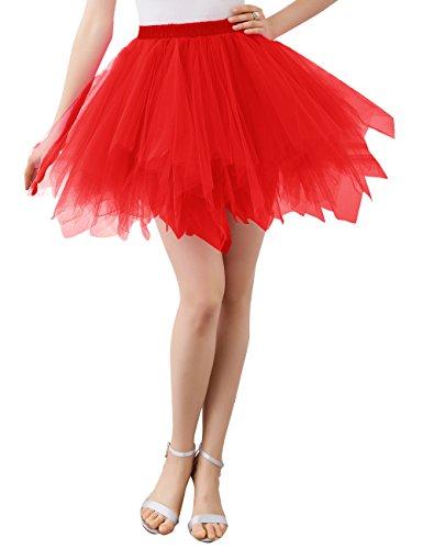 Wedtrend Damen Retro Petticoat Party Kurz Ballett Tanzkleid (Auf Tippen Sie Kostüme Tanz)