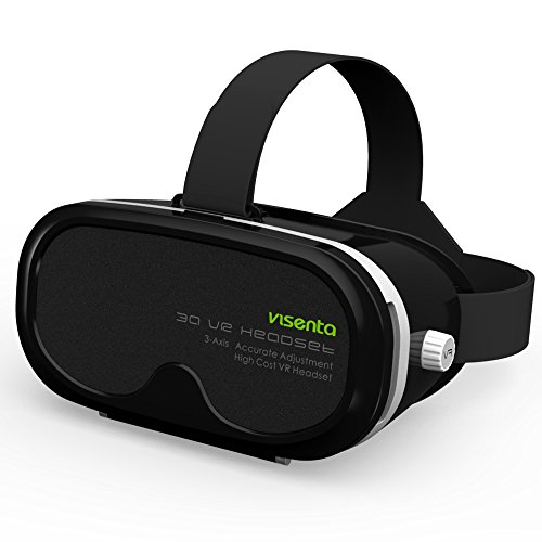 VISENTA VR HEADSET WORLD FIRST COMPATIBLE FROM NORMAL EYESIGHT UPTO HIGH MYOPIA(SHORT SIGHTEDNESS) -6 50D 3D VIRTUAL REALITY GLASSES FOR SMARTPHONES VIDEO MOVIE GAME SUITABLE PHONE SIZE 4 0-5 5 THICKNESS LESS THAN 8MM