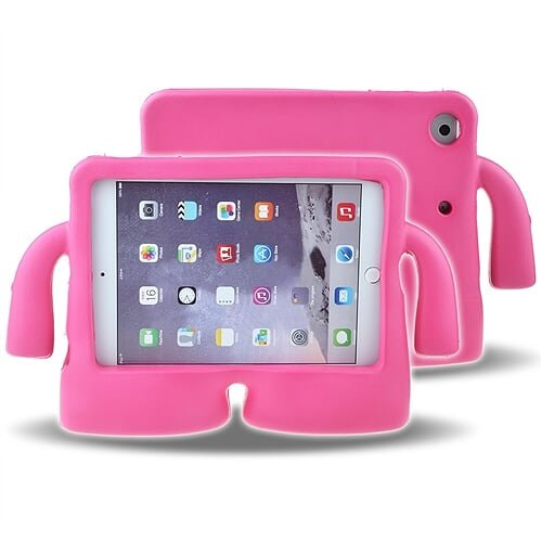 Cover Shockproof Ipad Mini (Schutzhülle für Kinder, weiche Schutzhülle CLOUDSTOO für Apple iPad mini 1/2/3/4, Shockproof Kids Safe Schaum Griff Cartoon Case Cover Stand für iPad mini 1/2/3/4,Rote Rose)