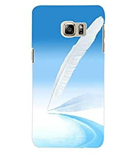 ColourCraft Lovely Feather Design Back Case Cover for SAMSUNG GALAXY NOTE 5 EDGE