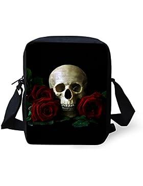 Punk-Rock Design Umhängetasche Rockabilly Style - Skull Design - 23x17 cm Gothic / Emo Tasche