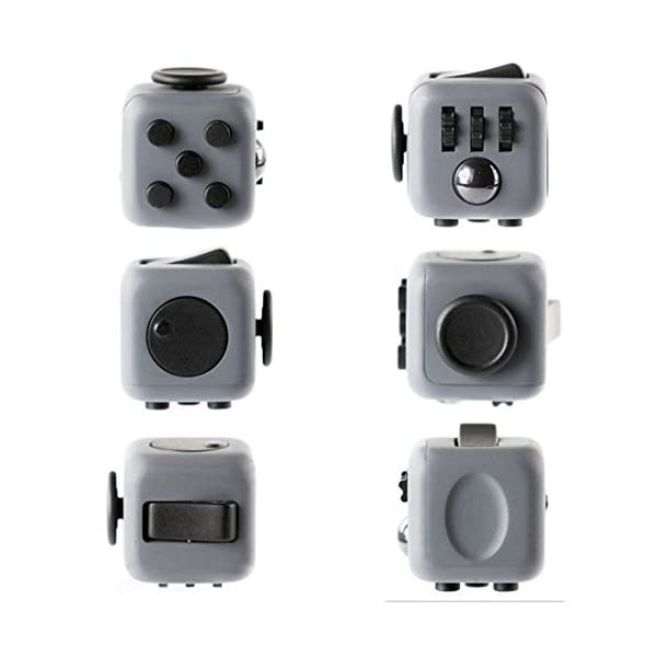 Younger Fidget Toy Cube Relieves Stress And Anxiety for Children and Adults GreyRedBlack Color Vary