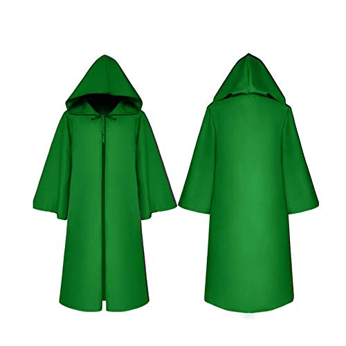 Cape Kostüm Green - Wizard Devil Es Cloak Robe Ritter Gothic Fancy Kleid up Halloween Masquerade Cosplay Kostüm Cape,Green