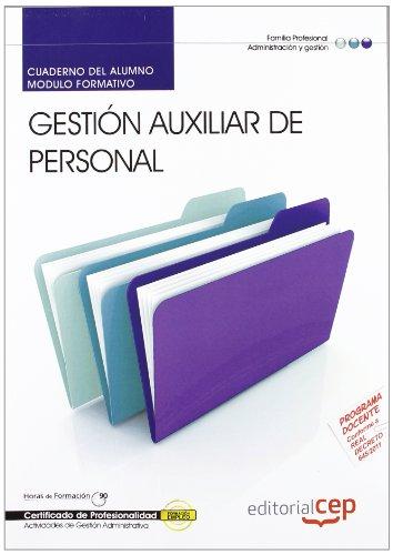 Portada del libro Cuaderno del alumno Gestión Auxiliar de Personal. Certificados de Profesionalidad (Cp - Certificado Profesionalidad)
