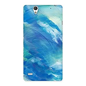 Stylish Art Blue Multicolor Back Case Cover for Sony Xperia C4