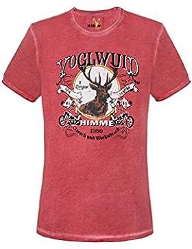 MarJo Moser Trachten Trachtenshirt Rot Voglwuid 005140 von, Material Baumwolle