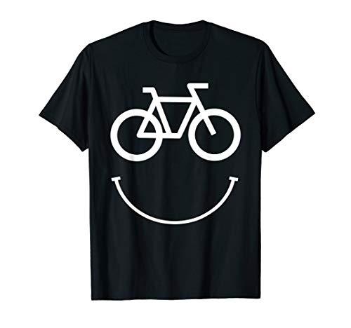 Fahrrad Smiley Gesicht - Radfahren T-Shirt - Radfahren Lustige T-shirt