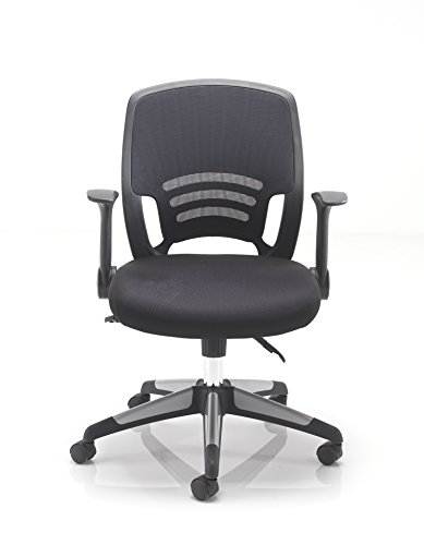 Office Hippo Mesh Back Office Desk Chair with Retractable ...  sc 1 st  UK Rattan Furniture Garden & Office Hippo Mesh Back Office Desk Chair with Retractable Arms ...