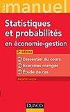 Mini manuel de Statistiques et probabilités en économie-gestion - 2e éd.