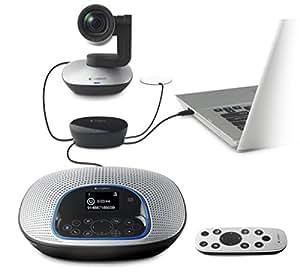 Logitech ConferenceCam CC3000e Webcam pour visioconférence Noir/Argent