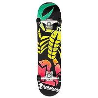 """Venom Skateboards Scorpion Complete Kids Junior Skateboard - 7.5"""" - Rasta"""